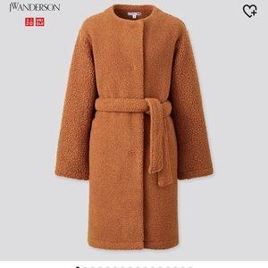 JW Anderson Pile Lined Fleece Collarless Coat
